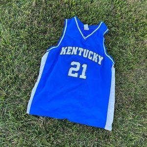 Kentucky UK Wildcats 21 basketball jersey xl